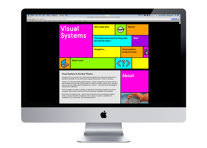 process website of my time in Visual Systems, taken with Ernesto